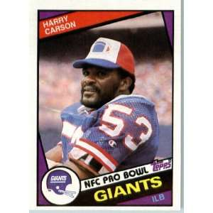 1984 Topps # 314 Harry Carson New York Giants Football Card   Shipped