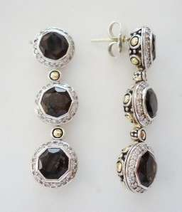 JOHN HARDY Batu Sari Cognac Quartz & Diamond Earrings