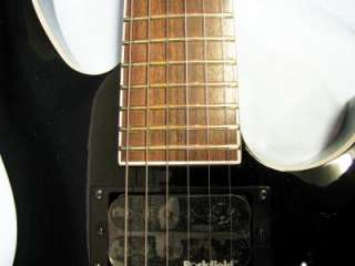 MICHAEL KELLY Vex Verdict Black electric GUITAR w/ Hard Case   B