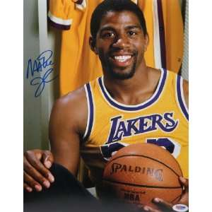 Magic Johnson Autographed 11x14 PSA/DNA   Autographed NBA Photos