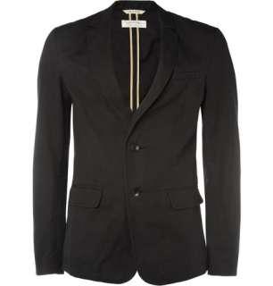 Blazers  Single breasted  Unlined Slim Fit Cotton Blend Blazer