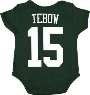 Tim Tebow Infant New York Jets Green Name & Number Creeper