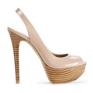 Jessica Simpson Halie Leather Peep Toe Platform Heel at HSN