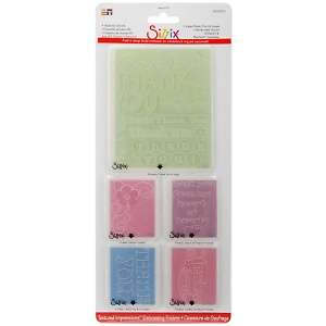 Sizzix Textured Impressions Embossing Folders   Thank You #2