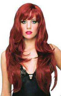 Adult Dreamgirl Wig in Red   Costume Wigs