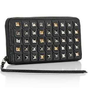 Elliott Lucca Oro Pyramid Stud Leather Wallet