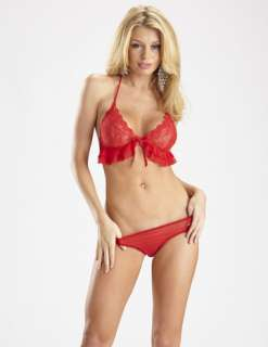 Open Heart Bra/Panty Set Rd (Accessories)