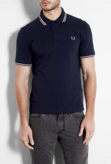 Fred Perry Laurel Wreath  Carbon Blue Original Twin Tip M12 Polo