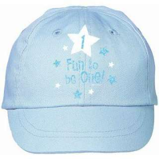Fun To Be One Blue Baseball Cap   Includes (1) light blue cotton
