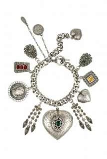 Jeweled Locket Charm Bracelet by Mawi   Metallic   Buy Jewellery