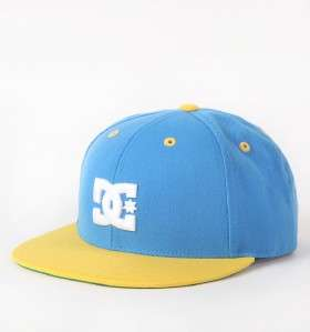 DC Shoes Starter Blue/Yellow Back To It Snapback Adjustable Hat Ball