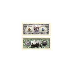 SET OF 5 BILLS WW I COMMEMORATIVE MILLION DOLLAR BILL Toys & Games