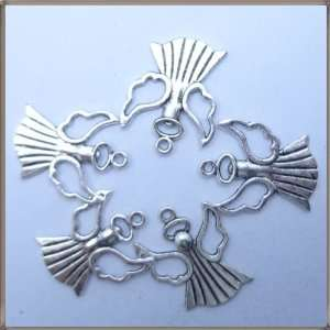Tibetan silver Beauty Angel Charm Pendant Beads Findings 5Pcs (22mm x