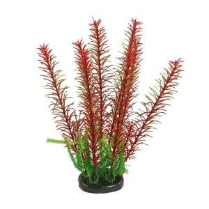 Como Aquarium Tank 11.4 Red Green Plastic Grass Plant