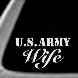 ARMY WIFE White 6 Vinyl STICKER / DECAL (MILITARY,SERVICE)