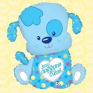 33 Puppy Boy Super Shaped Mylar Baby Shower Balloon Toys & Games