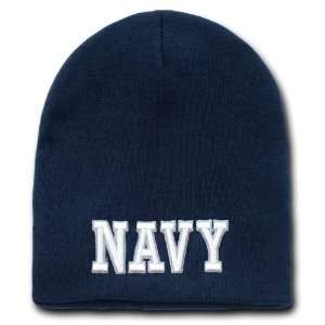 U.S Navy Text Classic Military Work Beanies Everything Else