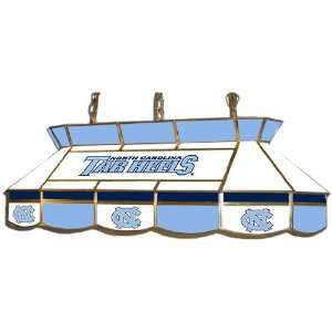 Carolina Tarheels Stained Glass Pool Table Light