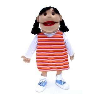 30 Hanna Hispanic Girl Full/half Body Puppet Rem. Legs Toys & Games