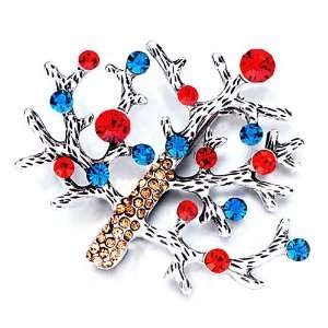Gifts Colorful Crystal Christmas Tree Brooches Pugster Jewelry