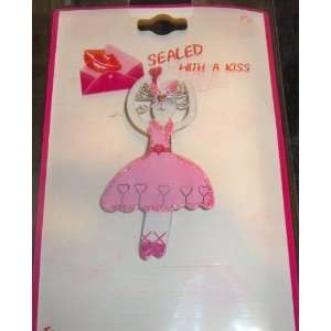 Love / Valentines Day Brooch Pin on Gift Card by Sealed with a Kiss