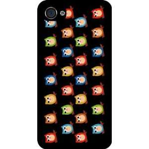 Owls Hoot on Black Rubber Black iphone Case (with bumper) Cover