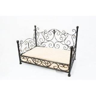 Black Wrought Iron Scrolled Dog or Cat Bed Frame