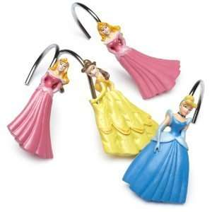 Disney Princess Cinderella Belle Sleeping Beauty Shower Curtain Hooks