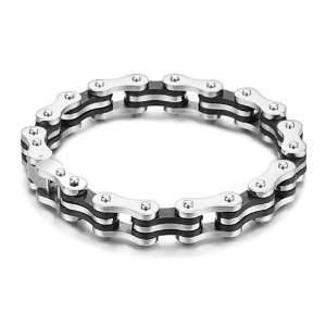 Stainless Steel Rubber Motocycle Chain Bracelet Jewelry