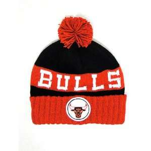 CHICAGO BULLS MITCHELL AND NESS THROWBACK Cuffed Knit Beanie Hat