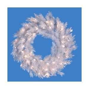 Designer Artificial Christmas Wreath   Clear Lights
