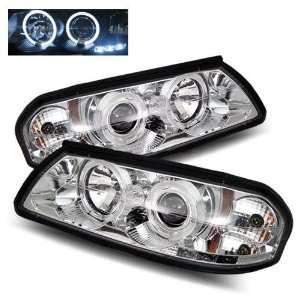 00 05 Chevy Impala Chrome LED Halo Projector Headlights