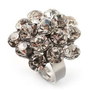 Clear Crystal Cluster Ring Jewelry