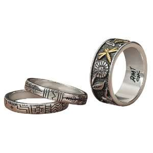 Gifts of Nature Gold & Silver Ring Set Jewelry