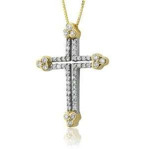 Cross Diamond Pendant Necklace (HI, I1 I2, 0.50 carat) Diamond