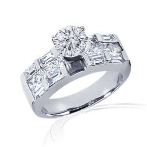 40 Ct Round Cut Diamond Engagement Ring Channel Set CUT IDEAL SI2 H