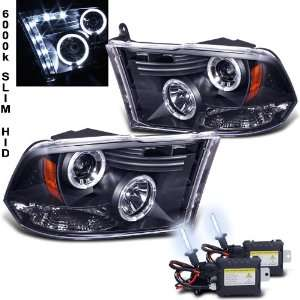 Xenon HID Kit+ 09 11 Dodge Ram Halo DRL LED Projector Head Lights Lamp