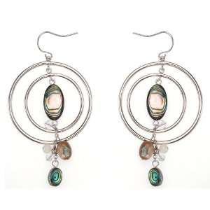 Super Fine Polished White Gold Double Hoops Earrings with