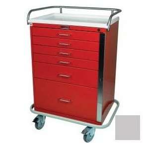 Drawer Emergency Cart Standard Package, Light Gray