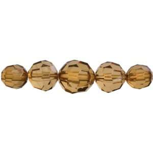 Cousin Jewelry Basics 37 Piece Acrylic Amber Facet Round