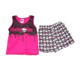 Monster High Logo and Skulls Tank Top Girls Sleep Set