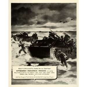 1943 Ad Pittsburgh Industrial Finishes WWII War Army Tank