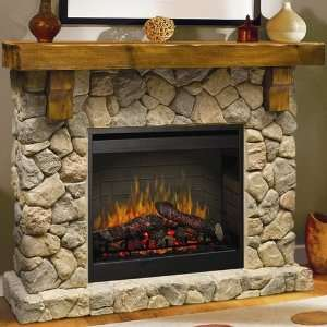 Dimplex Fieldstone Indoor Electric Fireplace Package   Natural Stone