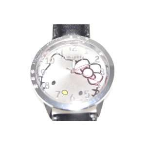 Hello Kitty Watch with Black Synthetic Leather Strap #Wn Toys & Games
