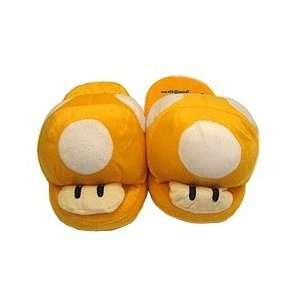 Super Mario Brothers  Mushroom Face Slippers (Yellow) Toys & Games