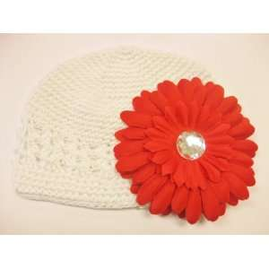 Months With a 4 Red Gerbera Daisy Flower Hair Clip