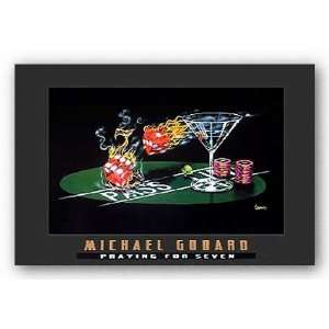 Seven Michael Godard Novelty Humor Print 36x24 Poster: Home & Kitchen