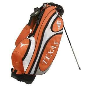 Burnt Orange White Gridiron Stand Golf Bag