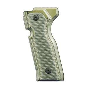 Beretta Cougar 8000+ Grips Checkered G 10 Green Sports & Outdoors