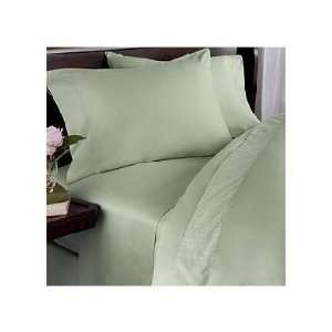 Percale 21 inch Super Deep Pocket SAGE GREEN Queen Sheet Set by